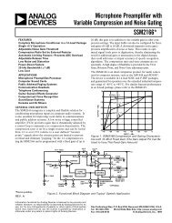 SSM2166 Data Sheet