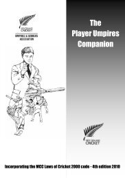 The Player Umpires Companion (A5b) - New Zealand Cricket