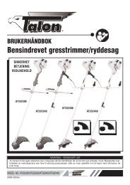 BRUKERHÅNDBOK Bensindrevet gresstrimmer/ryddesag