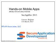 Hands on mobile apps - Secure Application Development