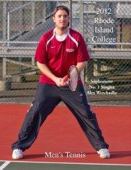 2012 Men's Tennis Media Guide - Rhode Island College Athletics