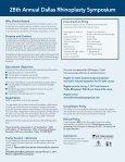Westin Galleria - Dallas Rhinoplasty Symposium - Page 2