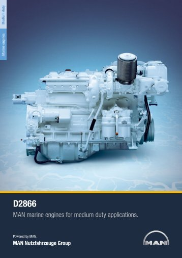 MAN marine engines for medium duty applications.