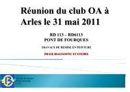 Réunion du club OA à Arles le 31 mai 2011 - PLATEFORME ...