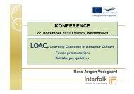 LOAC, Konference i Kbh, 1 oplæg - Interfolk, Institute for Civil Society