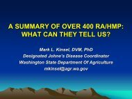 A Summary of Over 400 RA/HMP: What can they tell us? - Johne's ...