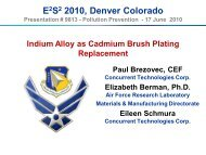 Cd brush plating replacement - E2S2