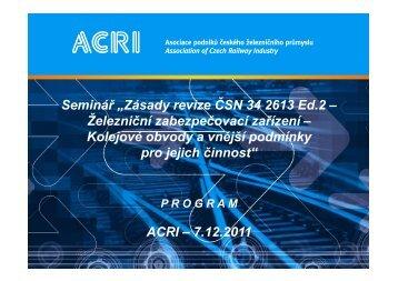 Program (pdf) - ACRI