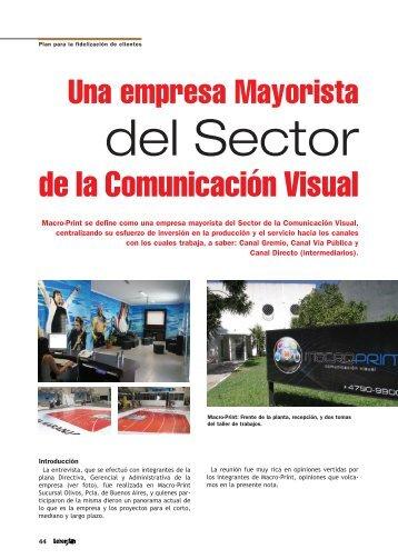 Una Empresa Mayorista del Sector de la ... - Revista Letreros