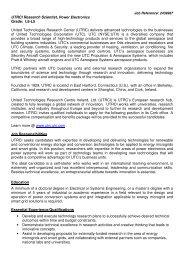 UTRCI Research Scientist, Power Electronics Grade: L6-L5 United ...