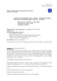 Side 1 av 4 (inklusiv formelliste) Norges teknisk-naturvitenskapelige ...