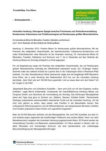 Vorläufiger Schlussbericht - Hamburg Messe