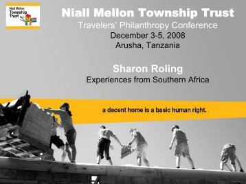 Niall Mellon Township Trust - Travelers' Philanthropy