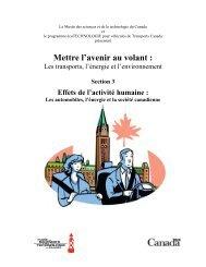 Les automobiles, l'énergie et la société canadienne - Musée des ...