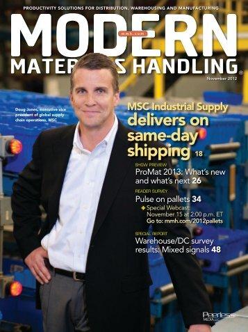 Modern Materials Handling - November 2012