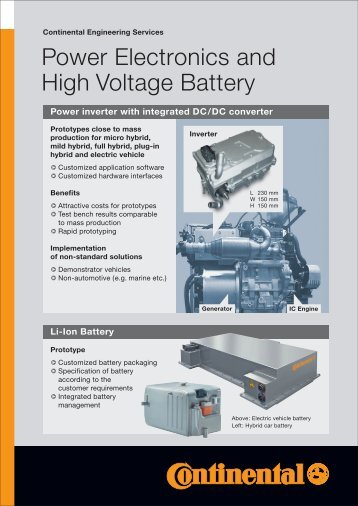 "Fact Sheet ""Power Electronics and High Voltage Battery"