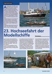 23. Hochseefahrt der Modellschiffe