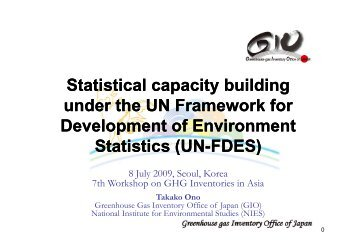 Statistical capacity building under the UN Framework for ...