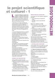 Le projet scientifique et culturel