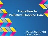 Palliative Care/Hospice View