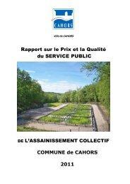 Rapport sur le Prix et la Qualité du SERVICE PUBLIC DE L ... - Cahors