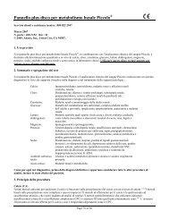 Pannello plus disco per metabolismo basale Piccolo - Abaxis