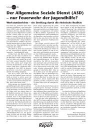 Der Allgemeine Soziale Dienst (ASD) – nur Feuerwehr der ...