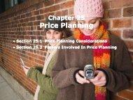 Price Planning Price Planning - iMAG