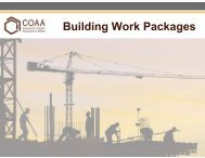 Building Work Packages - Construction Owners Association of Alberta