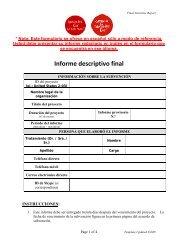 Informe descriptivo final - Campaign for Tobacco-Free Kids