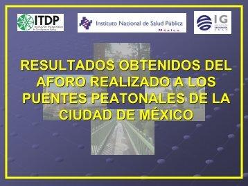 RESULTADOS OBTENIDOS DE LOS AFOROS ... - Walk21