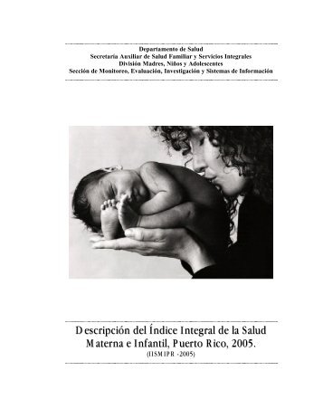 Descripción del Índice Integral de la Salud Materna e Infantil, Puerto ...