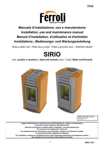 Manuale d'installazione, uso e manutenzione Installation ... - Ferroli