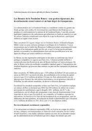 Les finances de la Fondation Rotary : une gestion rigoureuse, des ...