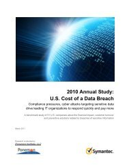 2010 Annual Study: US Cost of a Data Breach - Cenzic