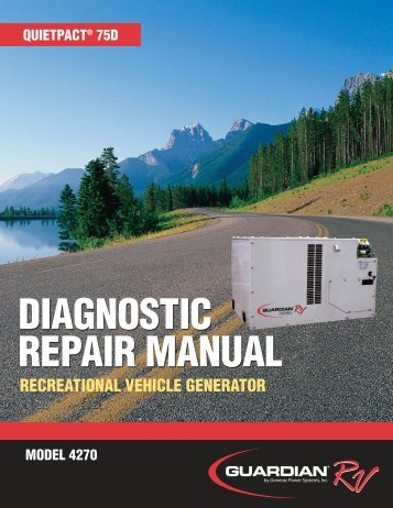 Quietpact 75D Diagnostic Repair Manual Models ... - Generac Parts