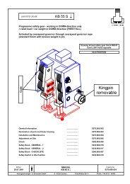 KB 55 S instalační manuál cz - GLOBAL elevators sro