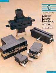 grippers & rack and pinion rotary actuators - Industrial and Bearing ...
