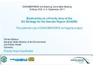 Biodiversity as a Priority Area of the EU Strategy ... - DANUBEPARKS