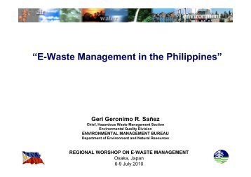 Resource productivity and waste