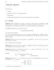 4 Pairwise alignment 4.1 Strings - Algorithms in Bioinformatics