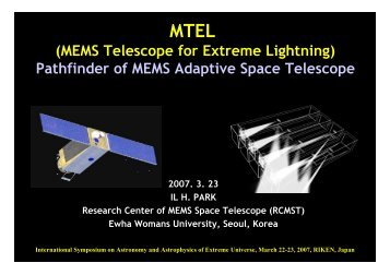 MTEL Satellite to Observe Transient Luminous Events - JEM-EUSO