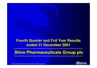 Shire Pharmaceuticals Group plc
