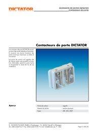 11 Contacteurs de portes - DICTATOR
