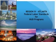 Federal labor Standards for HUD Programs Power Point Presentation