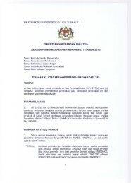 Pindaan Ke Atas Arahan Perbendaharaan (AP) - Treasury