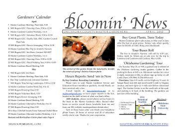 April - Oklahoma County Master Gardeners