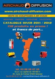 CATALOGUE HIVER 2011 / 2012 158 produits en promo - Airchaud ...