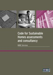 Code for Sustainable Homes brochure - NHBC Home