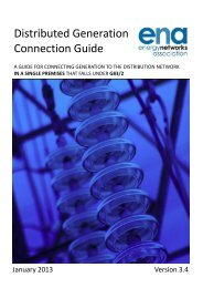 Guide for ER G83/2 Single premises connections - Energy Networks ...
